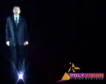 Turkish PM appears as hologram to supporters